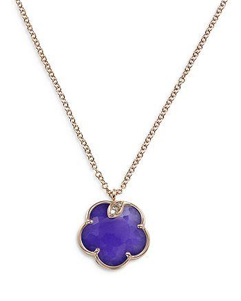 "Pasquale Bruni - 18K Rose Gold Petit Joli Necklace with Violet Quartz & Diamonds, 16.7"""