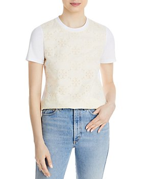 Tory Burch - Eyelet Embroidered Tee