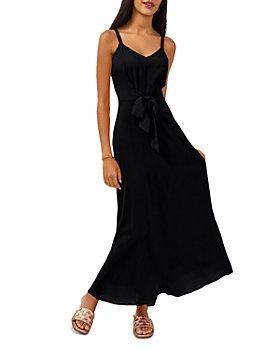 VINCE CAMUTO - Challis Tie Front Maxi Dress