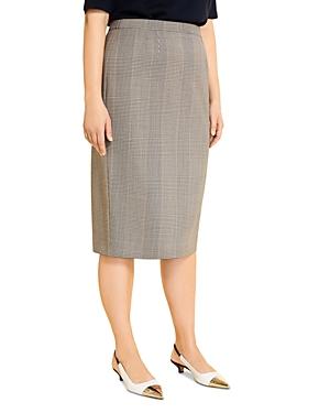 Marina Rinaldi Cannes Check Print Pencil Skirt