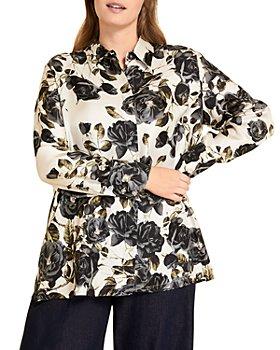 Marina Rinaldi - Biosfera Floral Print Silk Shirt