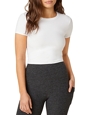 Beyond Yoga Ruched Back Cropped Tee