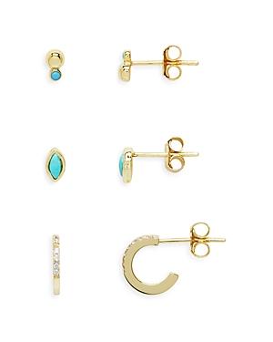 Hoop & Stud Earrings Set