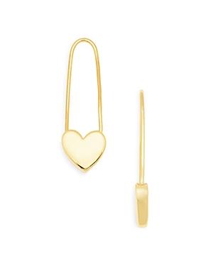Safety Pin Heart Earrings