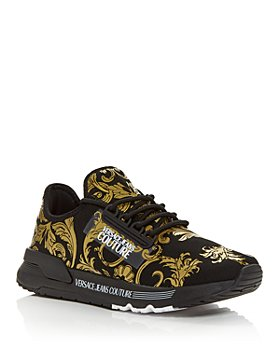 Versace Jeans Couture - Men's Baroque Print Knit Low Top Sneakers