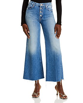 MOTHER - The Pixie Roller Wide Leg Jeans in Cut & Paste