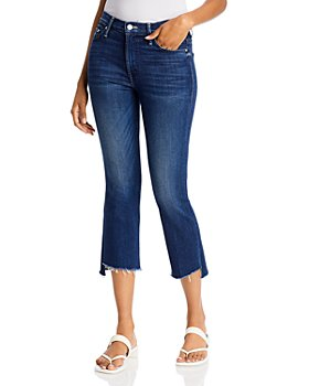 MOTHER - Insider Step Crop Fray Jeans in Tongue and Chic