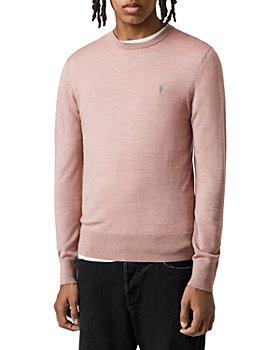ALLSAINTS - Mode Merino Wool Embroidered Logo Slim Fit Crewneck Sweater