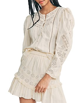LoveShackFancy - Cove Lace Trim Skirt