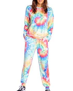 PJ Salvage - Stardust Rainbow Tie-Dye Top, Shorts & Jogger Pants