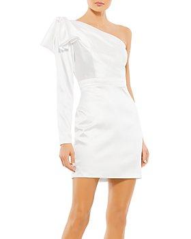 Mac Duggal - Ruffle Shoulder Mini Dress