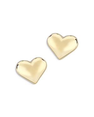 Bloomingdale's Puffed Heart Studs in 14K Yellow Gold - 100% Exclusive