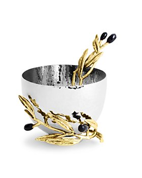 Michael Aram - Olive Branch Nut Dish with Spoon