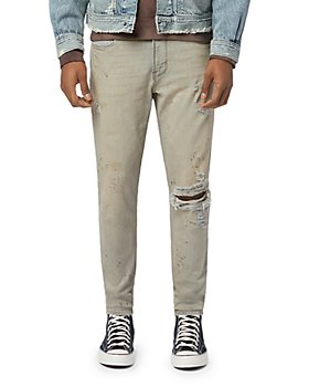 Hudson - Skinny Fit Stained Khaki Jeans