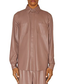 Nanushka - Declan Vegan Leather Regular Fit Shirt