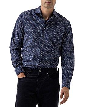 Rodd & Gunn - Clydebank Cotton Poplin Micro Paisley Print Regular Fit Button Down Shirt