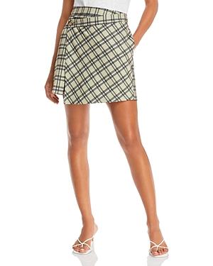 Lisa Plaid Wrap Mini Skirt