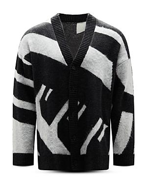 Color Block Oversized Cardigan Sweater