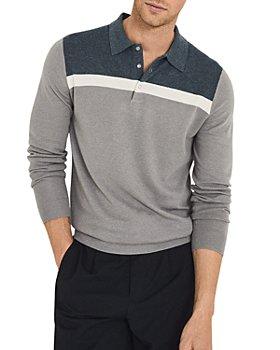 REISS - Eastlong Colorblock Long Sleeve Regular Fit Polo