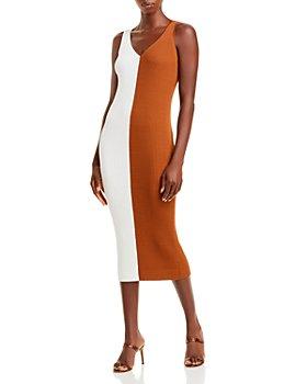 STAUD - Dana Color Blocked Midi Dress