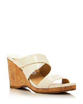 Jimmy Choo - Women's Sue 90 Beige Wedge Sandals