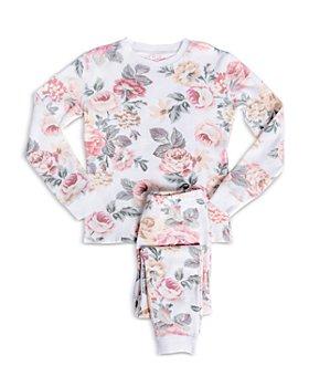 PJ Salvage - Girls' Retro Rose Printed Pajama Set - Little Kid, Big Kid