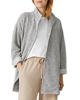 Eileen Fisher - Stand Collar Cotton Jacket