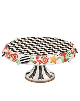Mackenzie-Childs - Candy Cottage Pedestal Platter, Large