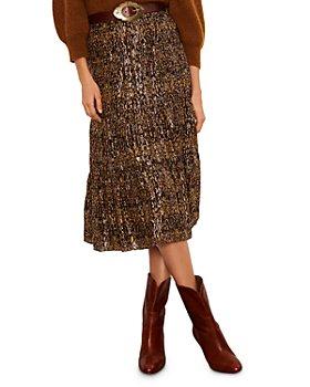 ba&sh - Gellio Printed Tiered Midi Skirt