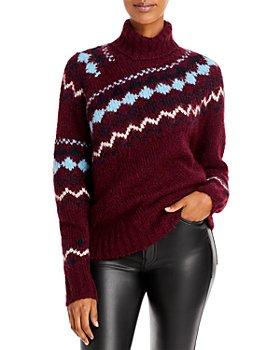 Derek Lam 10 Crosby - Grammer Fair Isle Turtleneck Sweater