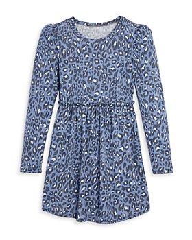 AQUA - Girls' Animal Print Knit Dress, Big Kid - 100% Exclusive