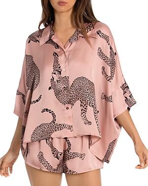 Cheetah Pajama Short Set