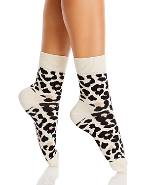 Leopard Half Crew Socks