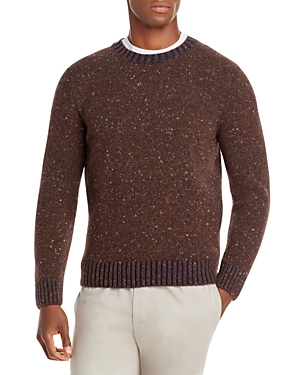 Classic Donegal Wool & Cashmere Crewneck Sweater