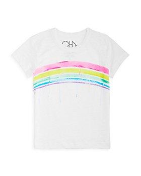 CHASER - Girls' Rainbow Linen Tee - Little Kid, Big Kid