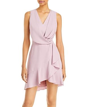 Draped Ruffle Mini Dress