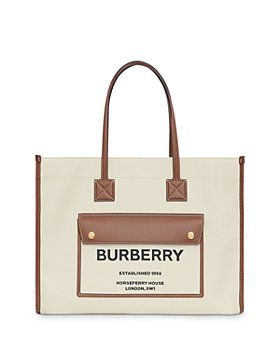 Burberry -  Canvas & Leather Medium Pocket Tote