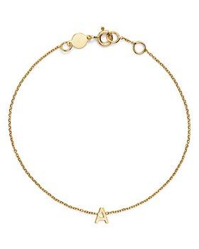 Moon & Meadow - 14K Yellow Gold Initial Chain Bracelet