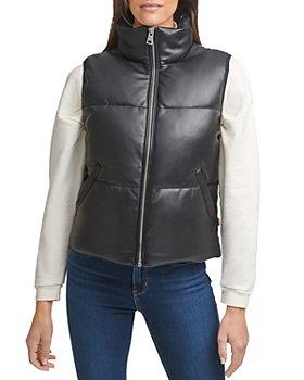Levi's - Faux Leather Puffer Vest