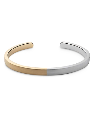 Two-Tone Cuff Bracelet