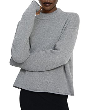 Theory - Cashmere Mock Neck Cropped Sweater
