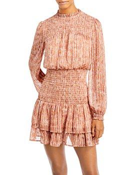 AQUA - Smocked Mini Dress - 100% Exclusive