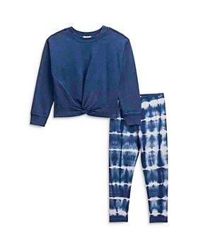 Splendid - Girls' Tie Top & Tiger Tie Dye Leggings Set - Little Kid