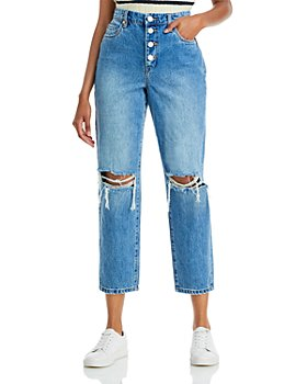 BLANKNYC - Button Fly Cropped Jeans in Bigger & Better