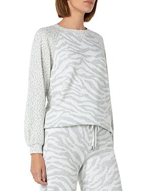 Mixed Animal Print Sweatshirt