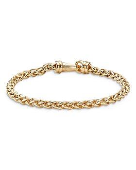 David Yurman - Men's 18K Yellow Gold Wheat Chain Link Bracelet