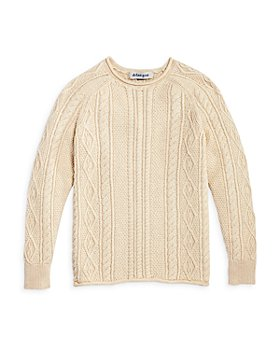 Dylan Gray - Boys' Cable Knit Roll Neck Cotton Sweater - Big Kid