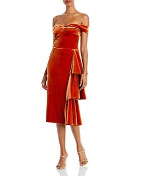 Chiara Boni La Petite Robe - Willa Off The Shoulder Velvet Dress
