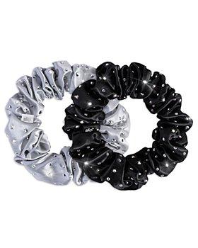slip - Crystal Embellished Scrunchies, Set of 2