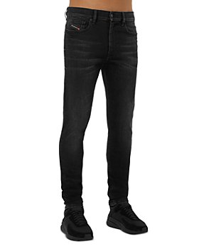 Diesel - Skinny Fit Jeans in Black Denim